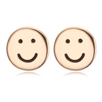 EXCLUSIVE Kolczyki uśmiechy złote